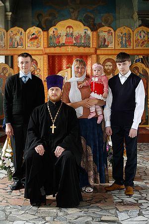 О. Максим Дударенко с семьей
