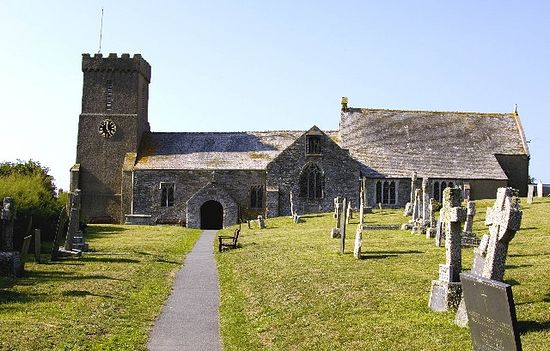Church of St. Carantoc in Crantock, Cornwall