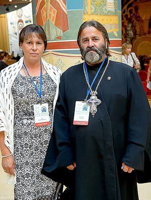 Протоиерей Иоанн Осяк и матушка Надежда