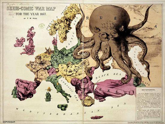 Как изображали Россию и другие страны Европы сами европейцы в 1877 г.