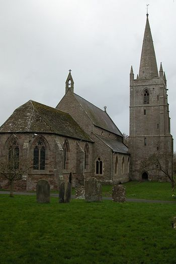 St. Mary's Church in Marden, Herefordshire - near the site of St. Ethelbert's martyrdom