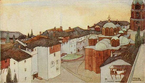 158. Монастырь Россикон. (1911?). Акварель. Художник Косяков Георгий (1872- 1925).