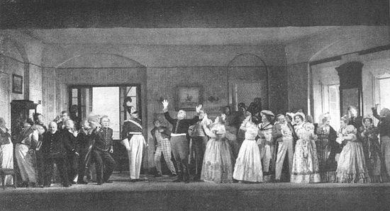 Ревизор. Немая сцена. Московский Художественный театр. 1908 г.