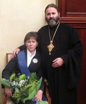 Протојереј Јован Осјак и попадија Надежда