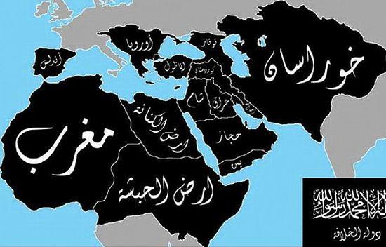 Территории, на которые претендует ИГИЛ. Фото: Sudan Tribune