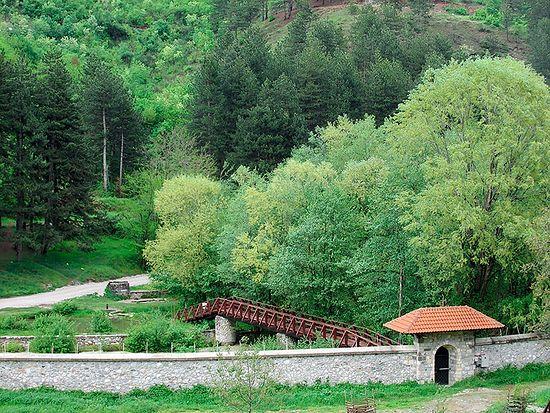 В монастыре Высокие Дечаны
