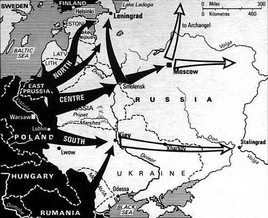 """Карта операции """"Барбаросса"""""""