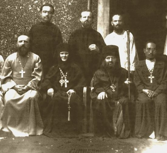 Saint John and the Abbess Ariadna with the clergy of the diocese of Shanghai