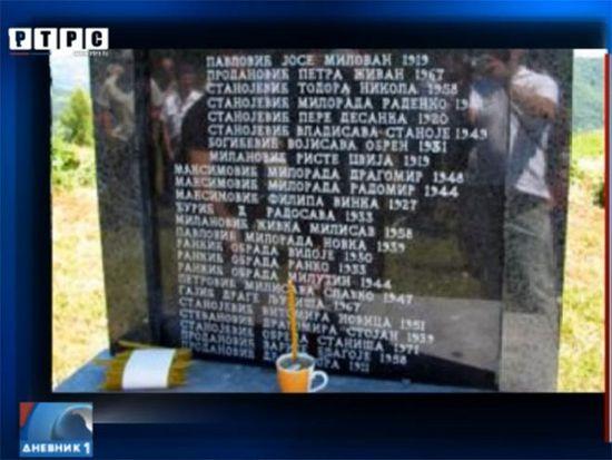 Ратковићи: Помен страдалим сребреничким Србима, фото: РТРС