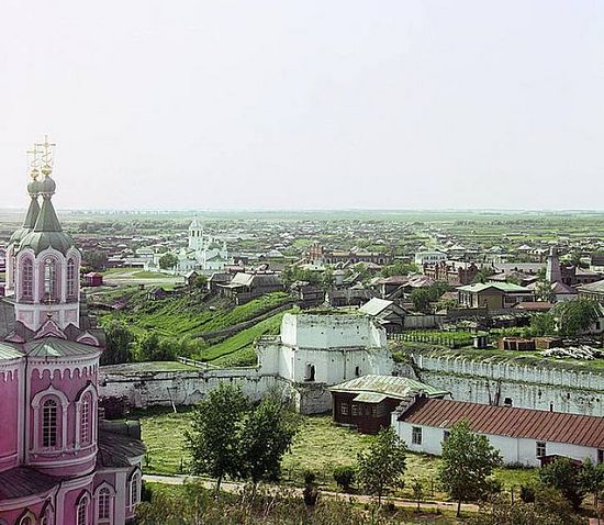 View of Dalmatov from the monastery belltower - 1912