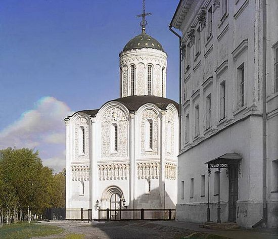 Dmitrievsky Cathedral in Vladimir - 1911