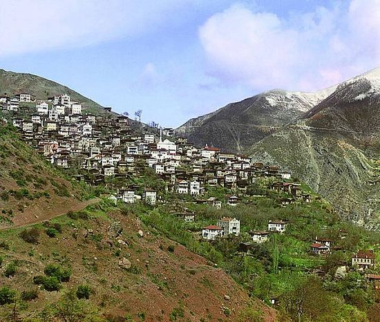 Overview of Artvin from the small town of Svet - between 1909-1915