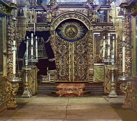 Iconostasis at the Winter Church of the Fedorov Mother of God in Yaroslavl - 1911