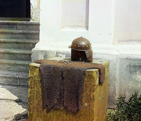 Hauberk and helmet of St. Dalmat - 1912