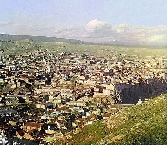 View of Tbilisi from St. David Church - between 1909-1915