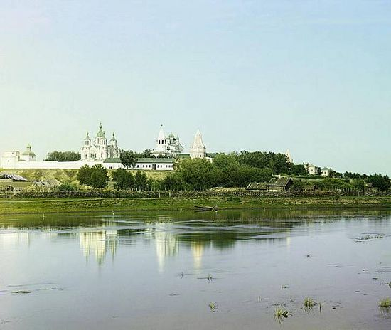 View of Dalmatov Monastery from the Iset River - 1912