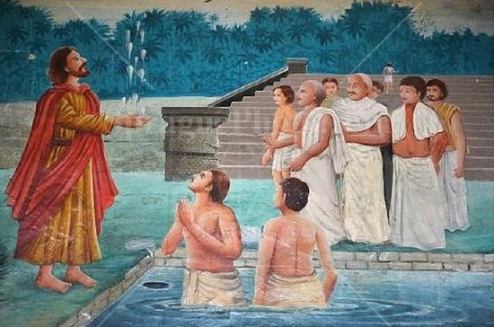 The Apostle Thomas, preaching in India.