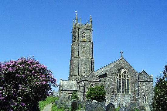 St. Nectan's Church in Hartland, Devon - the site of his hermitage