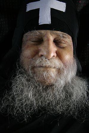 Старец Иосиф Ватопедский на смертном одре