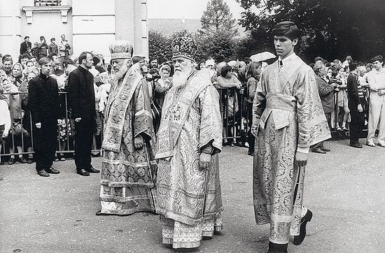 Слева направо: митрополит Владимир (Сабодан), митрополит Филарет (Динисенко), Сергий Писанюк