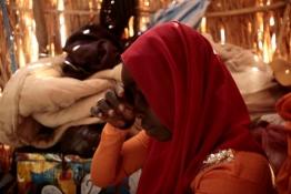 Displaced Sudanese girl Hawa Sliman Idriss
