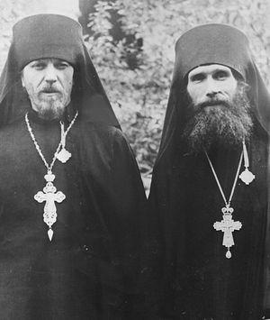 Два друга-архимандрита: Тихон (Агриков) и Кирилл (Павлов)