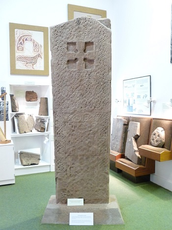 A Pictish stone in Rosemarkie (8th century)