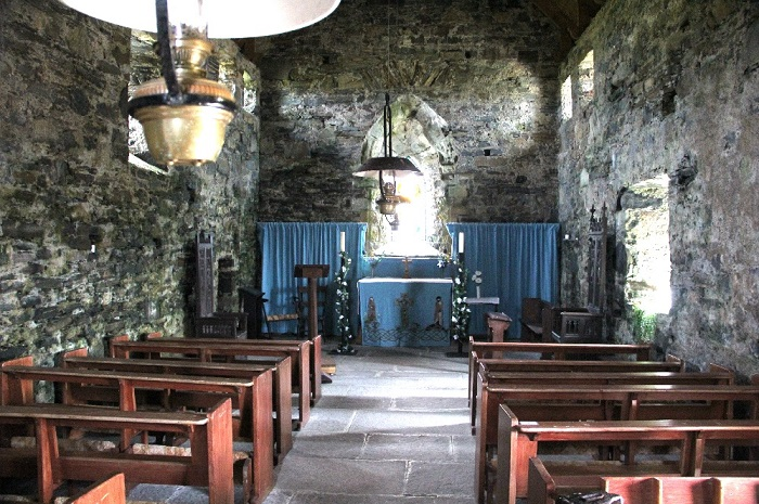 Inside St. Moluog's Church in Eoropie
