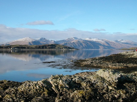 Isle of Lismore and hills, Scotland
