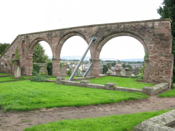 Ruins of St. Moluog's medieval Church in Alyth, Perth and Kinross