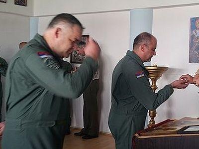 Сербские летчики считают св. Иоанна Шанхайского своим покровителем