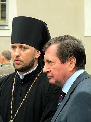 Игумен Даниил (Ирбитс) и посол России в Германии В. М. Гринин
