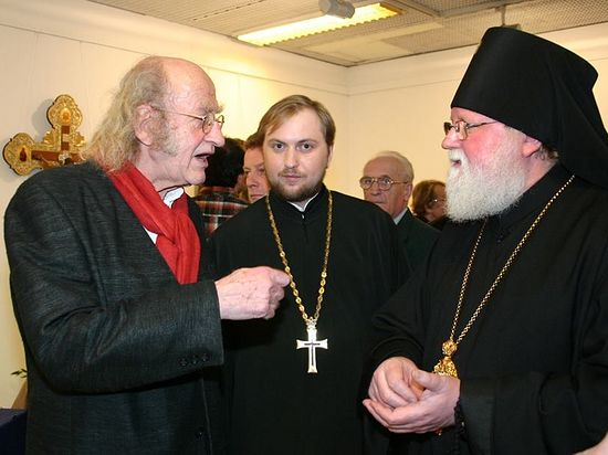 Норберт Кухинке, игумен Даниил Ирбитс и архиепископ Феофан
