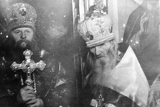 Старец Севастиан Карагандинский с митрополитом Иосифом (Черновым)