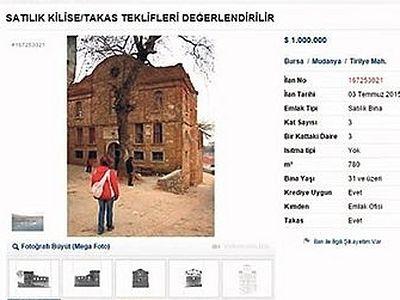 В Турции выставлен на продажу древний византийский храм «Панагия Пантовасилисса»