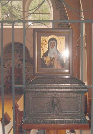 Реликварий с мощами св. Мильдреды в католическом монастыре Минстер на острове Танет