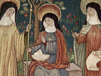 Святые Домнева, Мильдреда, Эдбурга и монастырь на острове Танет