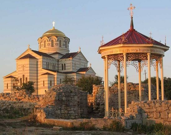 Предполагаемое место крещения князя Владимира в Херсонесе