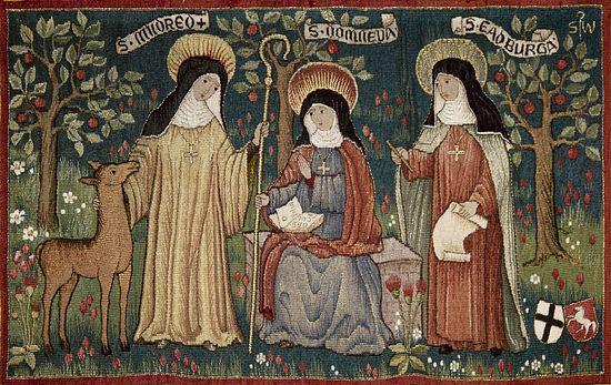 Sts. Domneva (Ermenburgh), Mildred, and Eadburga (Edburgh) - photo provided by Minster nuns
