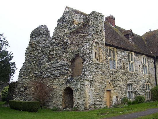 Ruined west tower in Minster (photo provided by Minster nuns)
