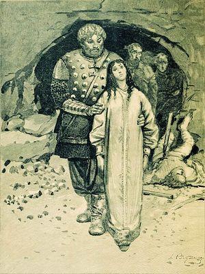 Добрыня Никитич и Малуша — наложница Святослава Игоревича, мать будущего князя Владимира