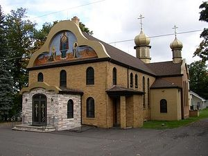 The main church of St. Tikhon's Monastery