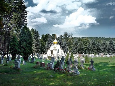 The cemetery at St. Tikhon's Monastery