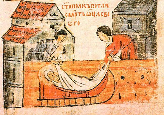 Святополк скрывает смерть князя Владимира