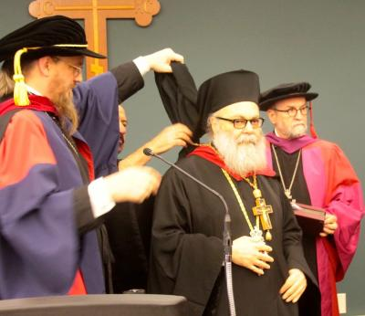 Bestowing the honorary doctorate