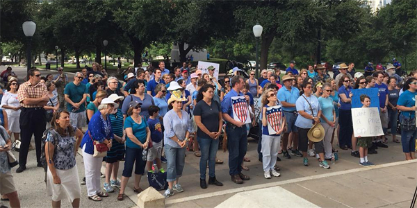 Hundreds of pro-life Texans attended the Women Betrayed rally in Austin outside the state capitol building