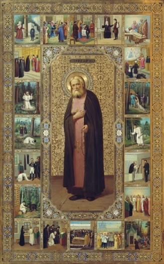 The biographical icon of St. Seraphim