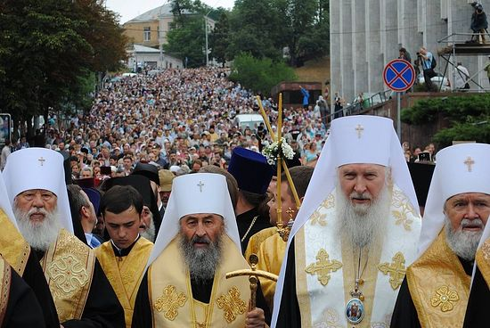 Cross procession in Kiev