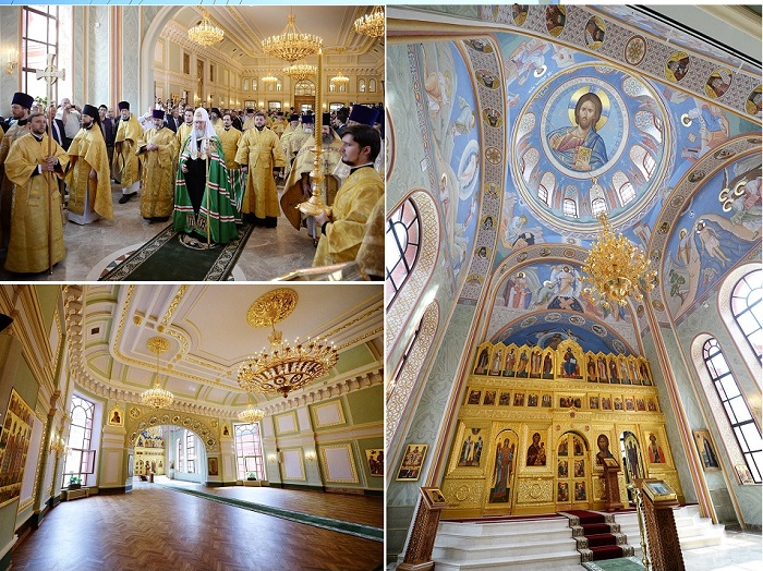 On July 26, His Holiness Patriarch Kirill of Moscow and All Russia visited the newly restored Eparchial (Diocesan) House in Moscow, where His Holiness celebrated the Great Consecration of the Chapel of the Holy Prince Vladimir Equal-to-the-Apostles (right)