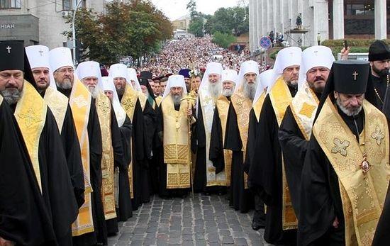 Крестный ход в Киеве в честь 1000-летия кончины равноапостольного князя Владимира